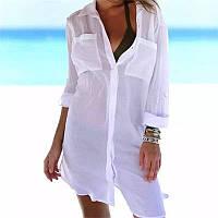 Пляжна сорочка туніка шифонова жіноча