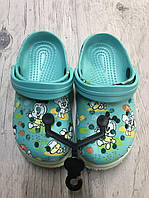Сабо, Пляжная обувь Кроксы бирюзовые Luckline размер 28/29