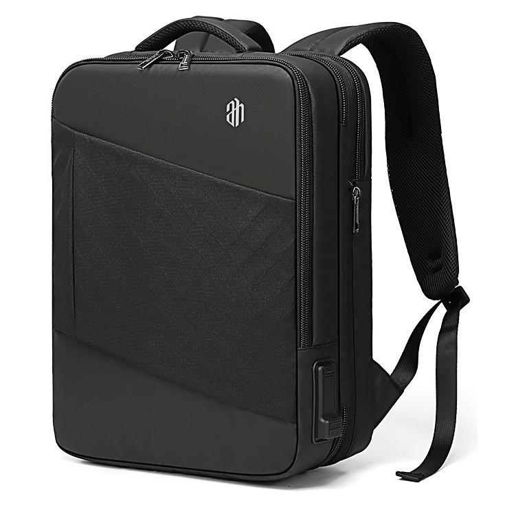 Дорожный рюкзак чемодан Arctic Hunter B00345, с тремя отделениями, RFID защитой и расширителем, 32л