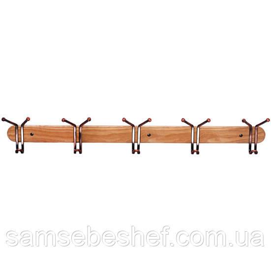 Потрійні гачки Besser 5шт 80см на дерев'яній планці