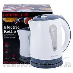 Чайник электрический Kamille 1.8л пластиковый (белый с серым) KM-1715A