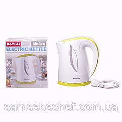 Чайник электрический Kamille 1.7л пластиковый (белый с салатовым) KM-1717A
