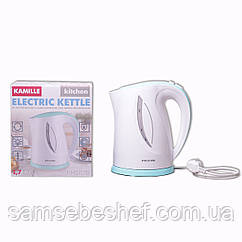 Чайник электрический Kamille 1.7л пластиковый (белый с бирюзовым) KM-1717B