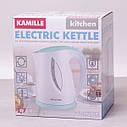 Чайник електричний Kamille 1.7 л пластиковий (білий з бірюзовим), фото 6