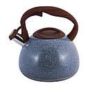 Чайник 2.8 л з нержавіючої сталі зі свистком і бакелітовою ручкою для індукції, фото 7