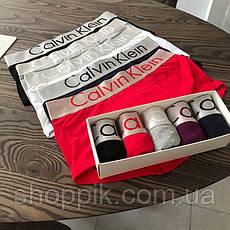 Чоловічі труси Calvin Klein боксери бавовна 5 штук   Комплект чоловічих трусів, фото 2