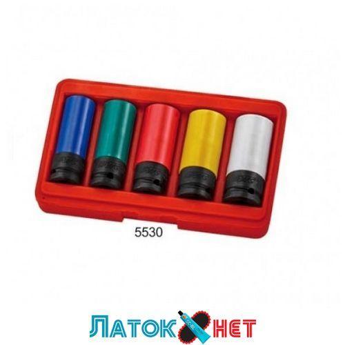 Набор головок ударных для литых дисков от 17 мм до 23 мм 5 единиц 5530 JTC