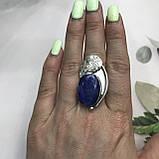 Сапфир кольцо 16,5 размер кольцо с камнем индийский сапфир в серебре кольцо с сапфиром., фото 2