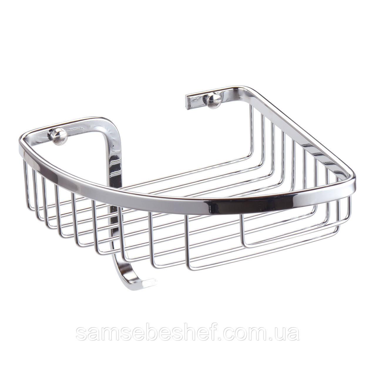 Полка для ванной Besser угловая 24.5х19х13.5см с крючком KM-8508