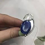 Сапфир кольцо 16,5 размер кольцо с камнем индийский сапфир в серебре кольцо с сапфиром., фото 3