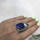Сапфир кольцо 16,5 размер кольцо с камнем индийский сапфир в серебре кольцо с сапфиром., фото 4