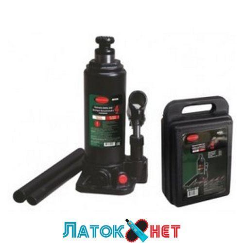 Домкрат пляшковий з клапаном і додатковий ремкомплект 4 т висота підхоплення 194 мм висота підйому 372 мм RF-T90404-S Rock For