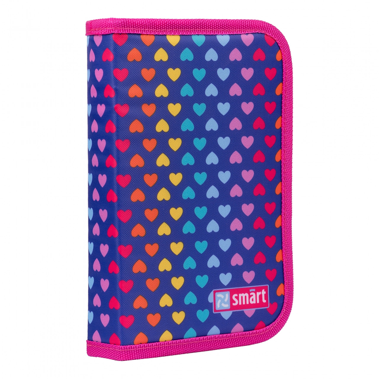 "Пенал твердий Smart оодинарный з клапаном HP-03 ""Rainbow hearts"",фіолетовий 532824"