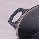 Кастрюля с крышкой Kamille 6.3л из литого алюминия и антипригарным покрытием для индукции и газа KM-4402, фото 5
