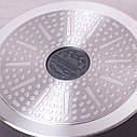 Кастрюля с крышкой Kamille 6.3л из литого алюминия и антипригарным покрытием для индукции и газа KM-4402, фото 7