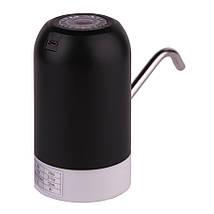 Электрическая помпа-дозатор для бутилированной воды, насос для бутыля W1 черная, фото 3