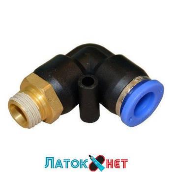 Соединитель быстроразьемный наружная резьба 3/8 - пластиковый шланг 8 мм SPL08-03 Airkraft