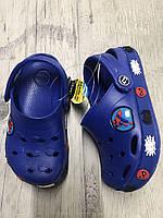 Сабо, Пляжная обувь Кроксы синие Спайдермен Dogo Stayle размер 24/25