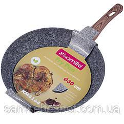 Сковорода Kamille 30см з антипригарним покриттям Grey marble з алюмінію для індукції