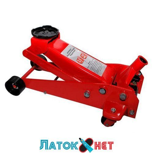 Домкрат гидравлический подкатной 3,5т GT0144 Intertool профессиональный с быстрым подъемом