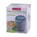 Термос пищевой обеденный для супа Kamille 1000мл пластиковый KM-2035, фото 6