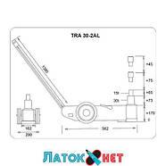 Домкрат пневмогидравлический подкатной 30т 15т TRA30-2AL Torin, фото 2