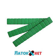 Груз клеящийся низкий голубая лента 12 х 5 г 60 гр металлический зеленый, фото 4