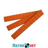 Груз клеящийся низкий голубая лента 12 х 5 г 60 гр металлический оранжевый, фото 4