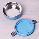 Ланч бокс обідній Kamille Блакитний 700мл KM-2105GL, фото 5