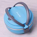 Ланч бокс обідній Kamille Блакитний 700мл KM-2105GL, фото 6