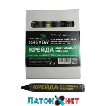 Мел зеленый восковый 13 мм Харьков 12 шт/уп