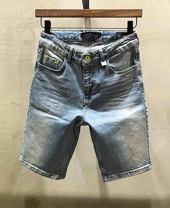 Чоловічі джинсові шорти МОМ сині, фото 2