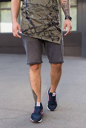 Мужские джинсовые шорты МОМ темно-серого цвета, фото 2