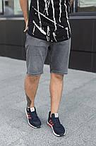 Мужские джинсовые шорты МОМ темно-серого цвета, фото 3