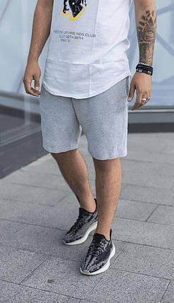 Чоловічі трикотажні шорти сірого кольору, фото 2