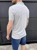 Чоловіча футболка-поло білого кольору, фото 3