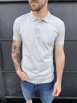 Чоловіча футболка-поло білого кольору, фото 2