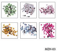 Цветные стразы «треугольники» (24 пакетика) Lady Victory LDV MZH-03 /37-2