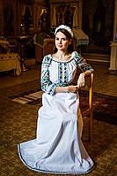 Катерина Смик. Вишита сукня з льону, фото 1