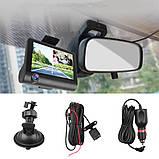 Видеорегистратор автомобильный на 3 камеры + Видео парковка регистратор с 4-дюймoвым экраном и съемкой салона, фото 3