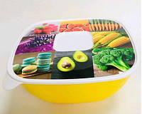 Набір салатників з кришкою з малюнком