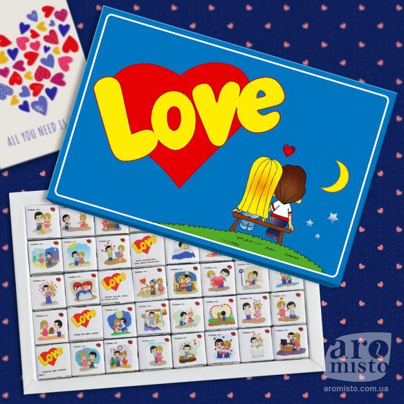 "Шоколадний набір ""Love is"" 150g"