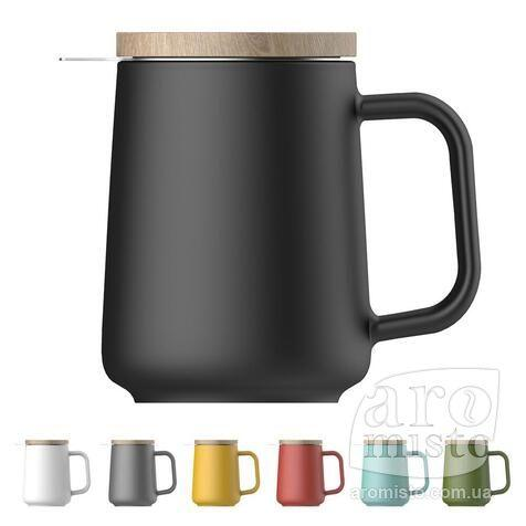 Чашка-заварник U Brewing Mug Wood, 500 мл