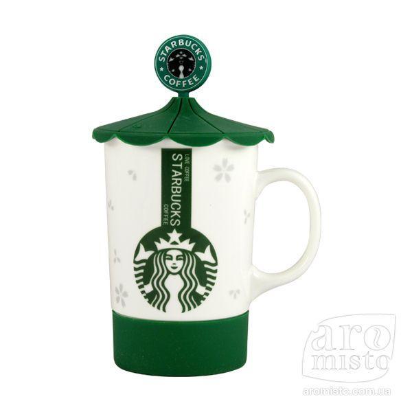 """Кухоль з кришкою """"Starbucks"""" (карусель) 480 мл"""