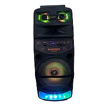 Колонка 2000W с микрофоном для караоке с Bluetooth и подсветкой KIMISO QS-6802