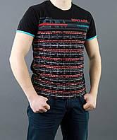 Качественная футболка из хлопка черного цвета