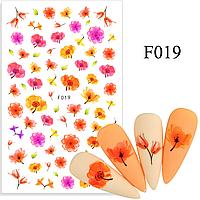 Слайдер, наклейки для дизайна ногтей F-019