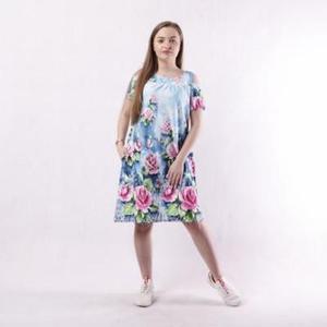 Платье с вырезом на плечах летнее Натали 44-58 р
