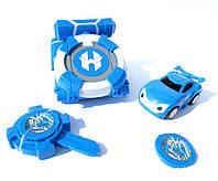 Іграшка Ліга Вотчкар , машинка Блюввил і Джин + запускалка WatchCar синій