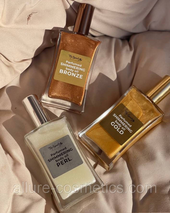 Парфумована олія з шиммером для тіла Top Beauty Parfumed Shimmering body oil 100 мл